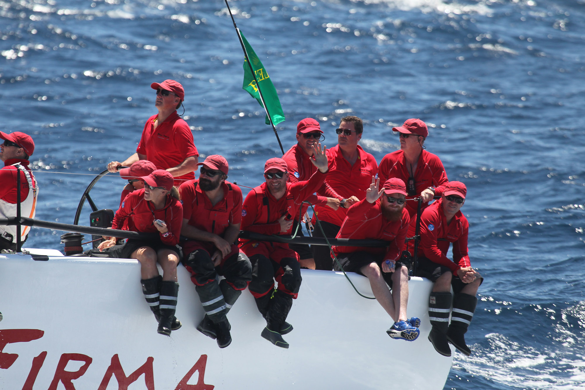 Waving Crew, Sydney To Hobart Yacht Race