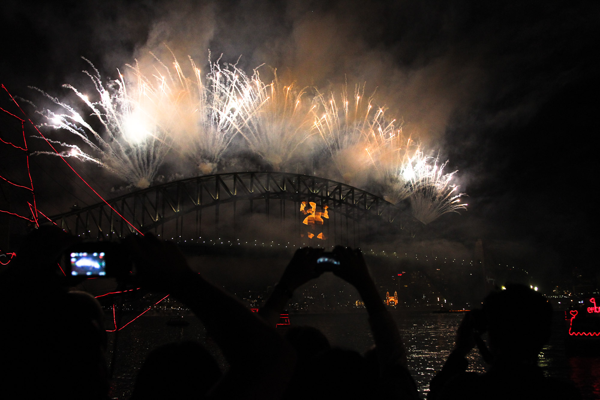 Nye Fireworks, Sydney Harbour Bridge
