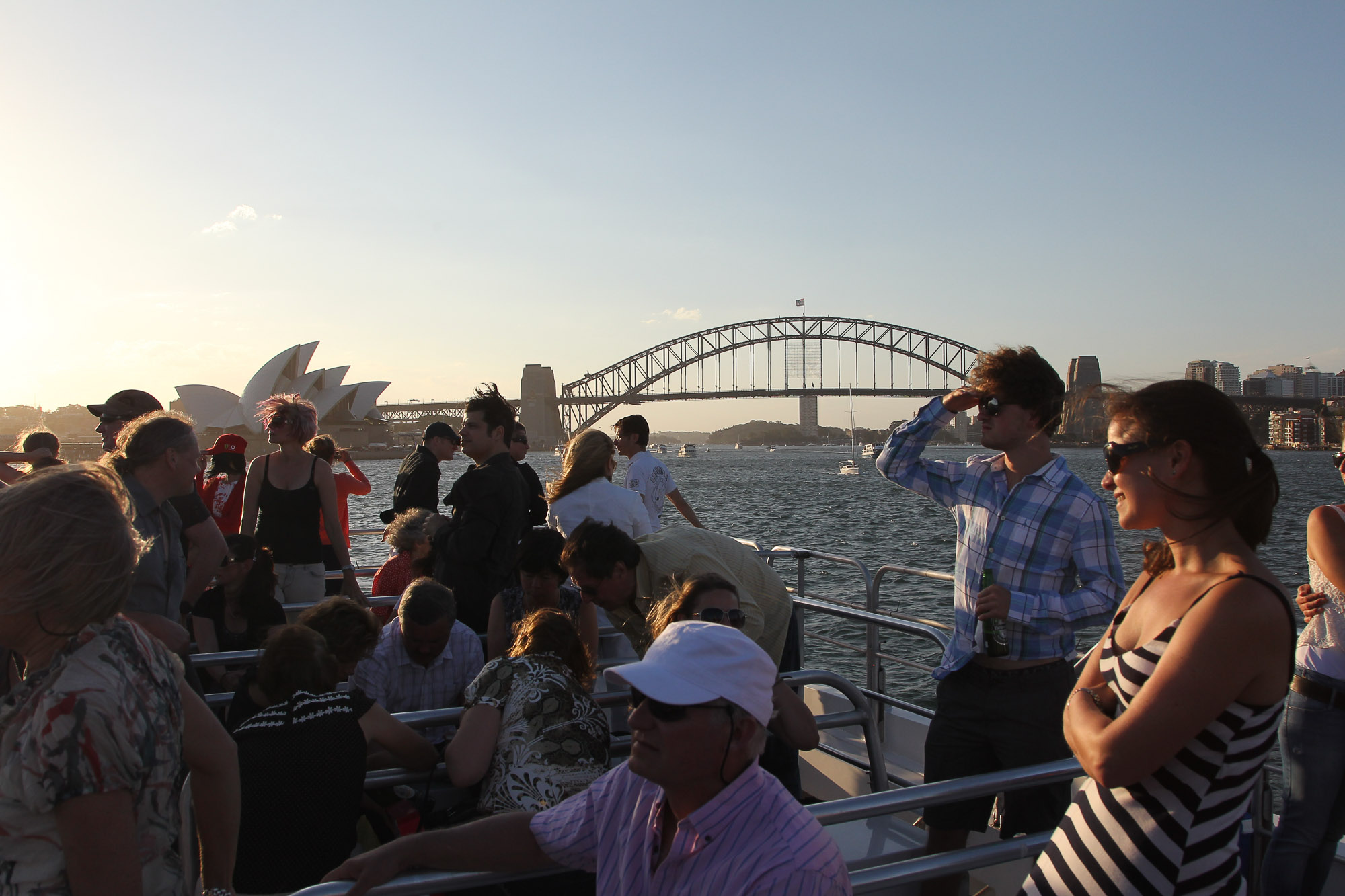 Sydney Harbour Bridge, New Years Eve, Sunset