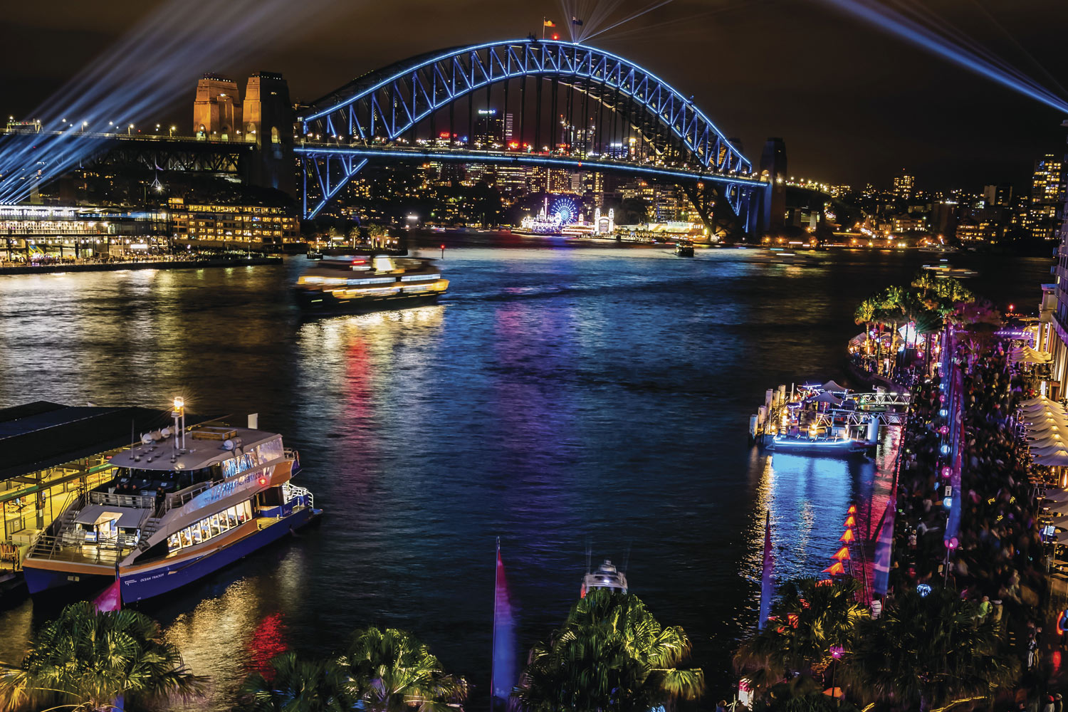 VIVID Sydney, My Fast Ferry, Circular Quay, Harbour Bridge