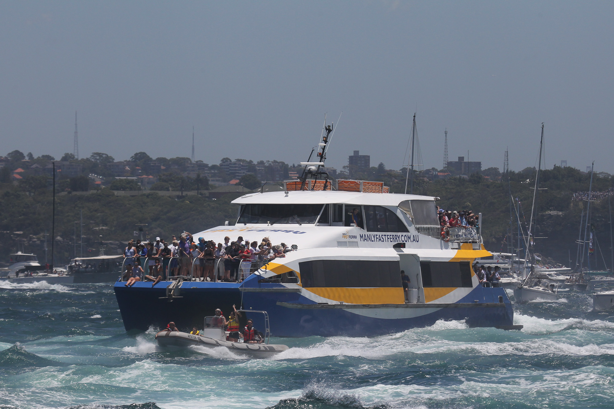 Ocean Rider leaving Sydney Harbour, Boxing Day Cruise