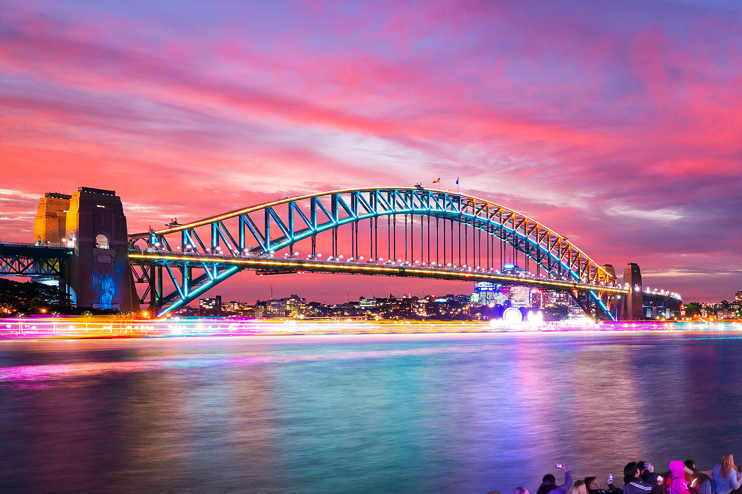 VIVID Sydney, Sydney Harbour Bridge, Lights