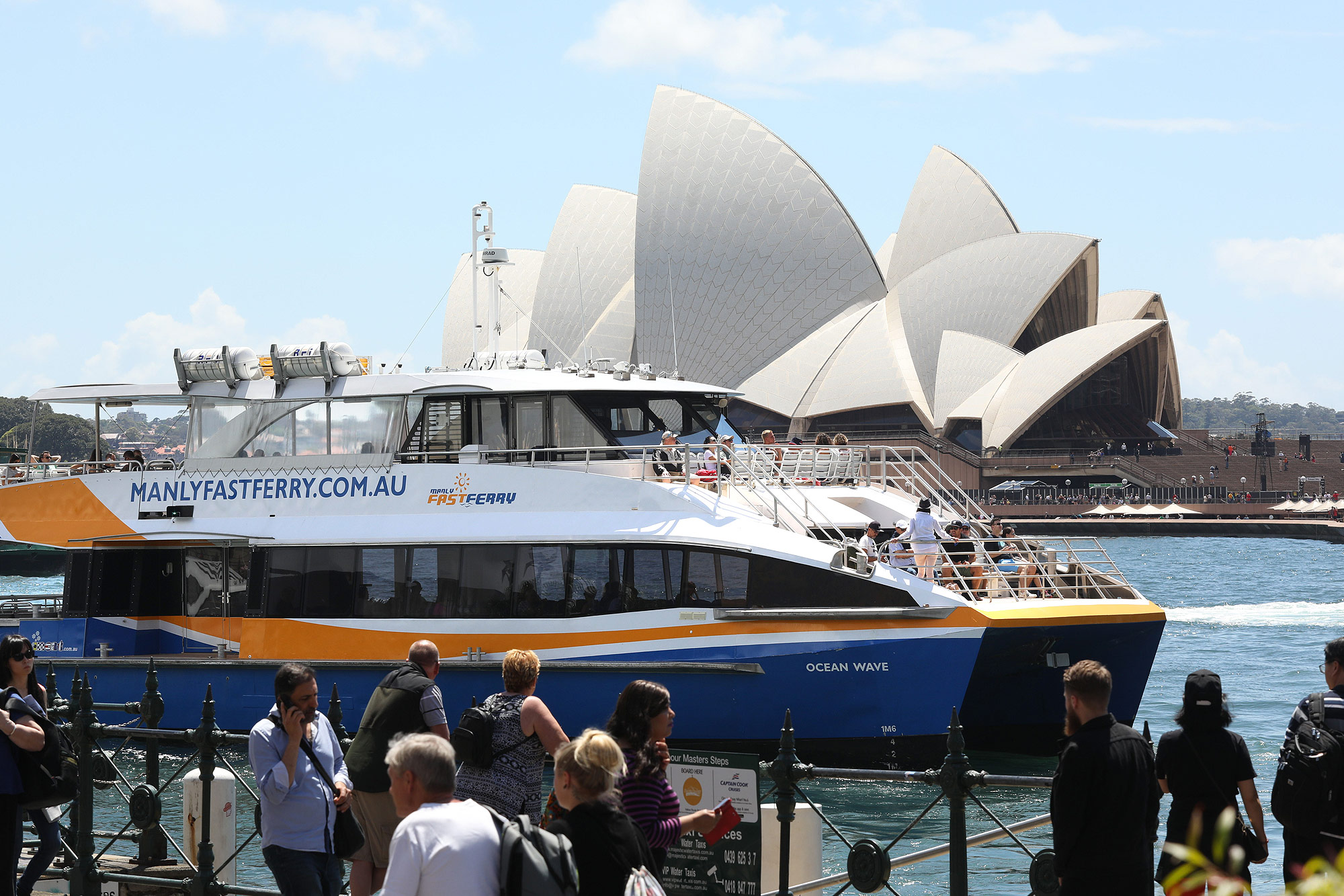 Manly Fast Ferry at Circular Quay