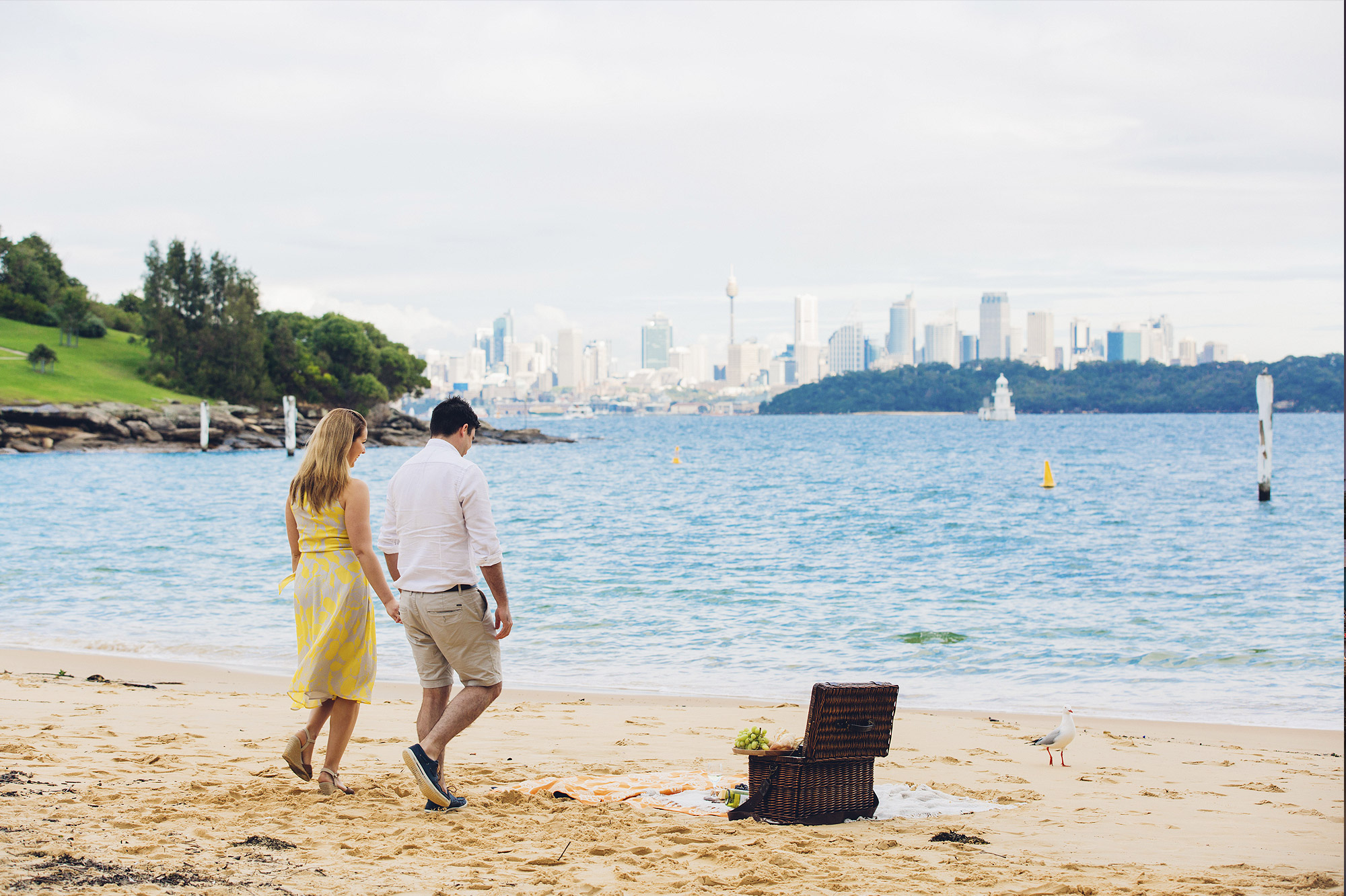 Beach picnic at Watsons Bay