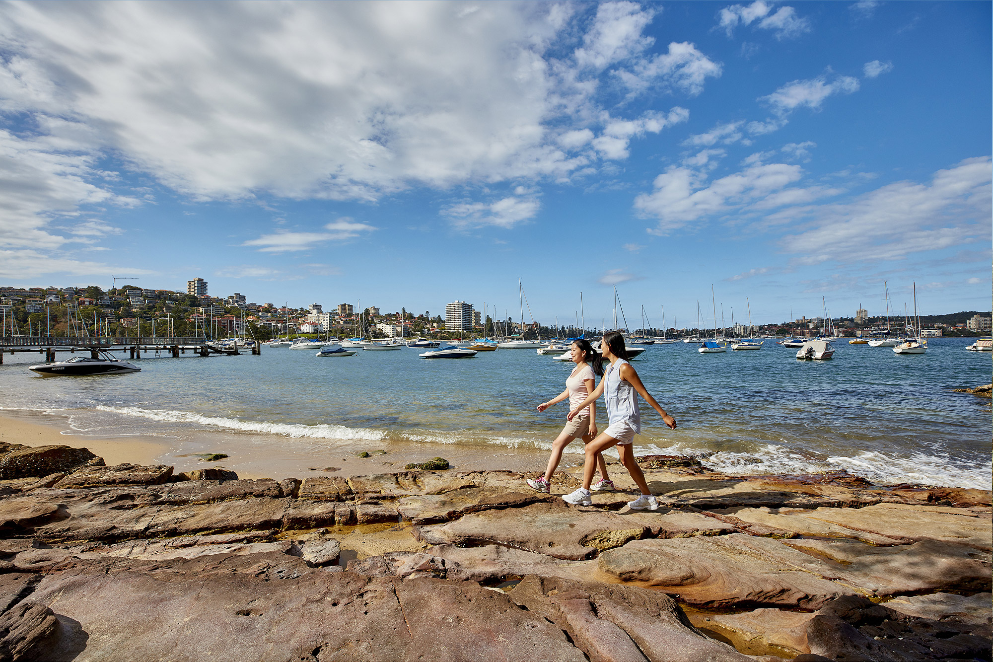 Walk along Forty Baskets Beach, Balgowlah.