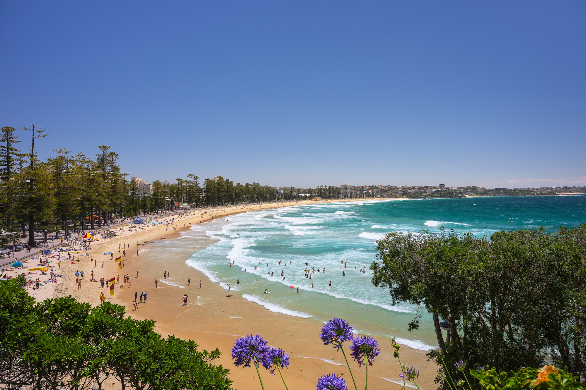 A summer's day at Manly Beach, Manly