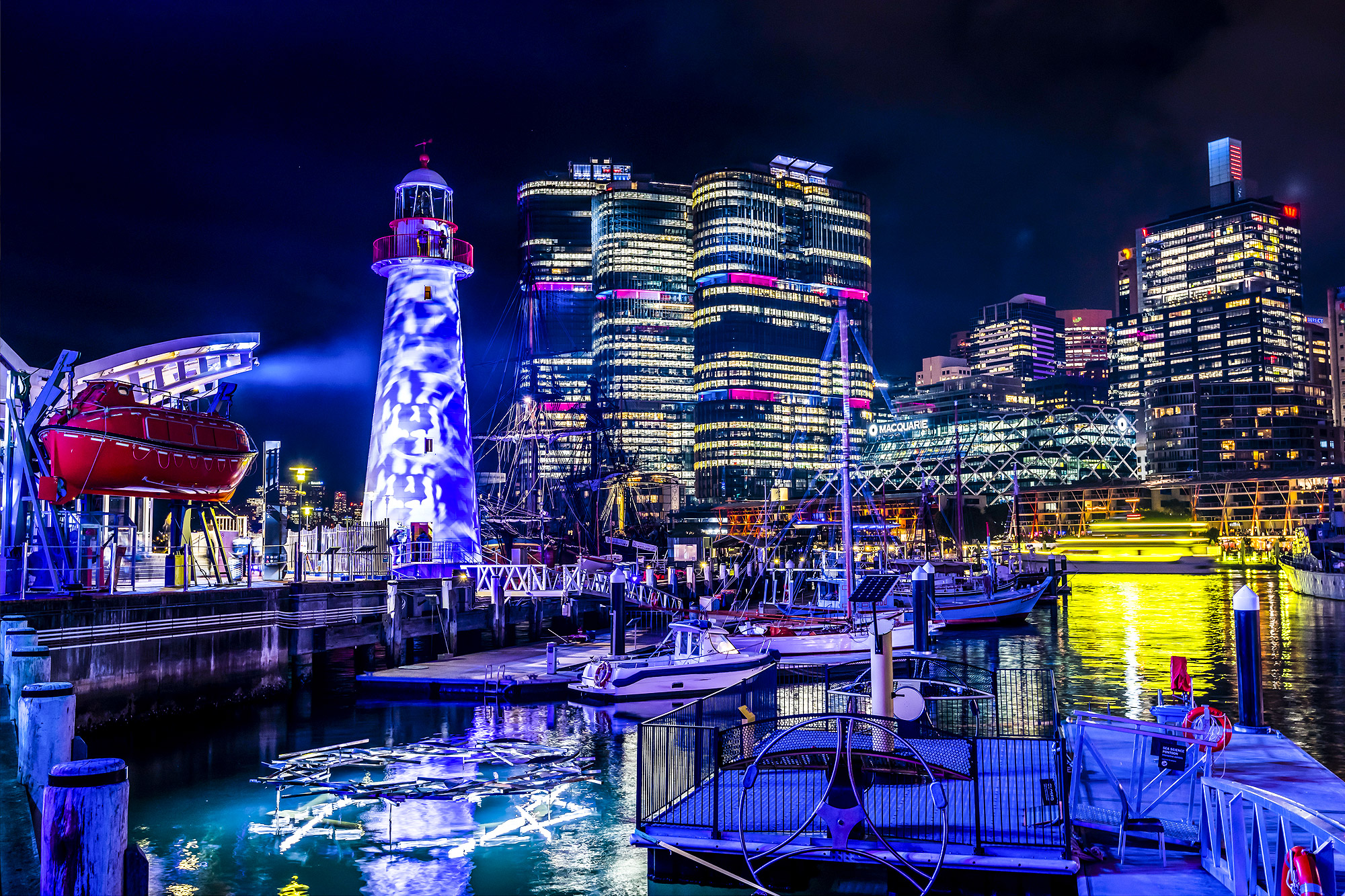 Vivid Sydney In Darling Harbour