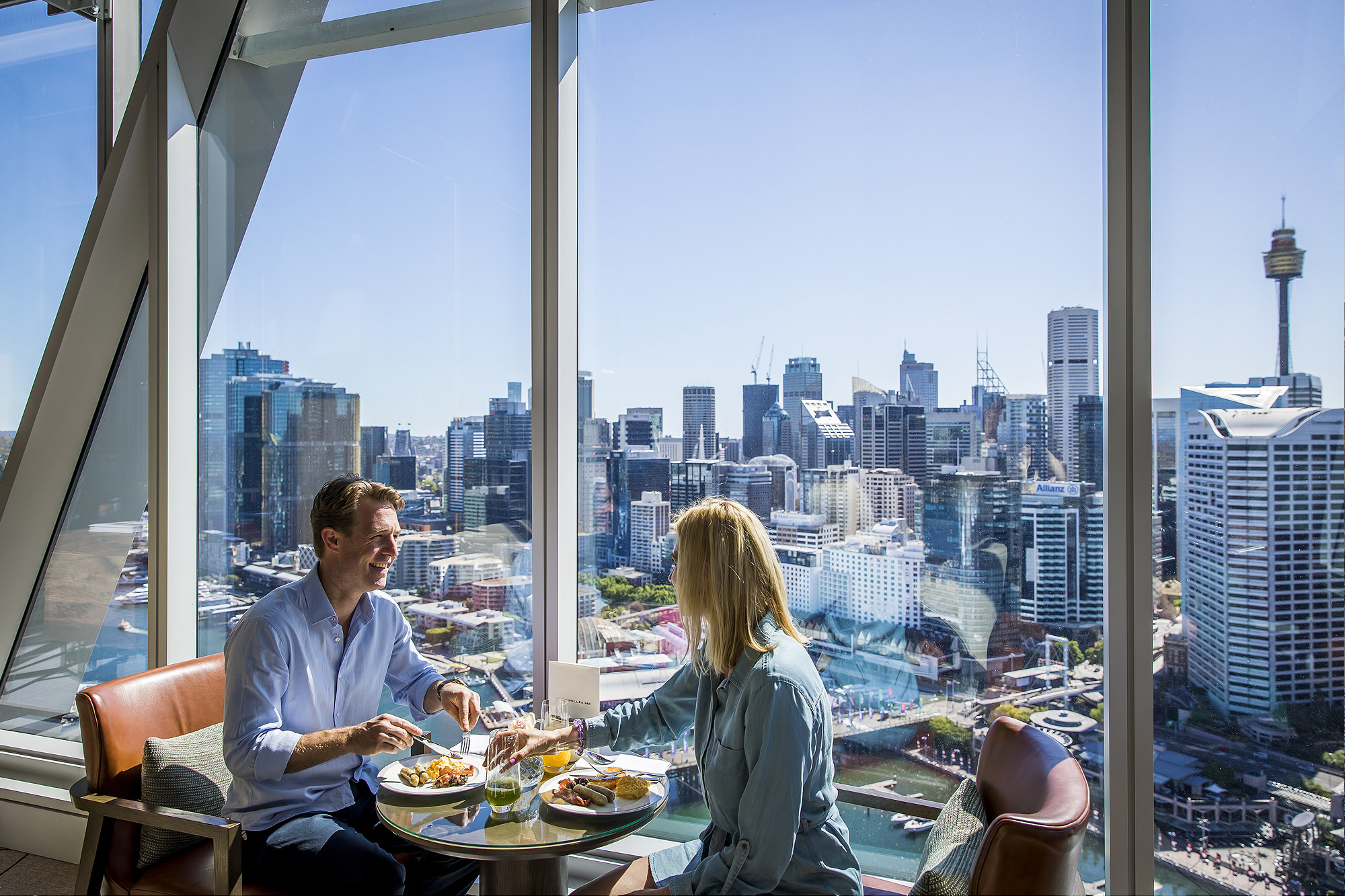 Enjoy food and drink at Club Millésime inside Sofitel Sydney Darling Harbour